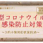 【富士五湖】新型コロナウイルス感染防止対策実施状況まとめ(COVID-19対策特集)